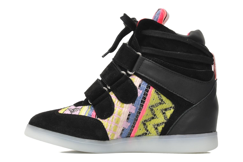 Baskets Serafini Manhattan Chic Sneaks Noir vue face