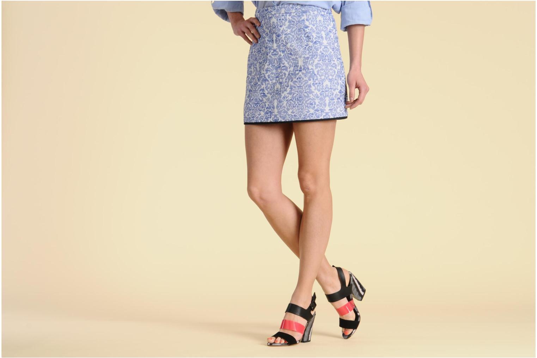 Sandales et nu-pieds Serafini Nora Multicolore vue bas / vue portée sac