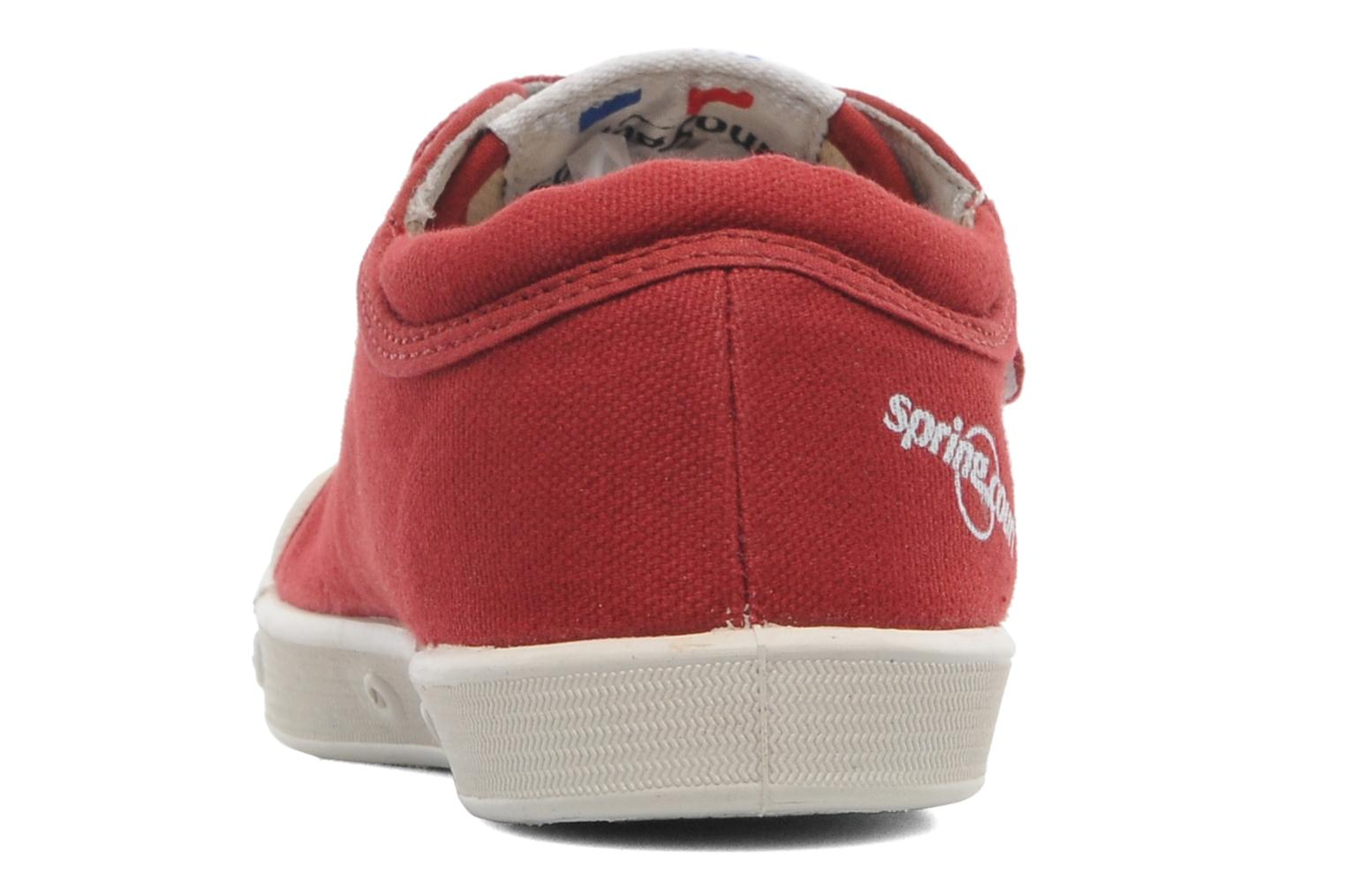 Sneakers Spring Court GE1 CVS VELCRO Rosso immagine destra
