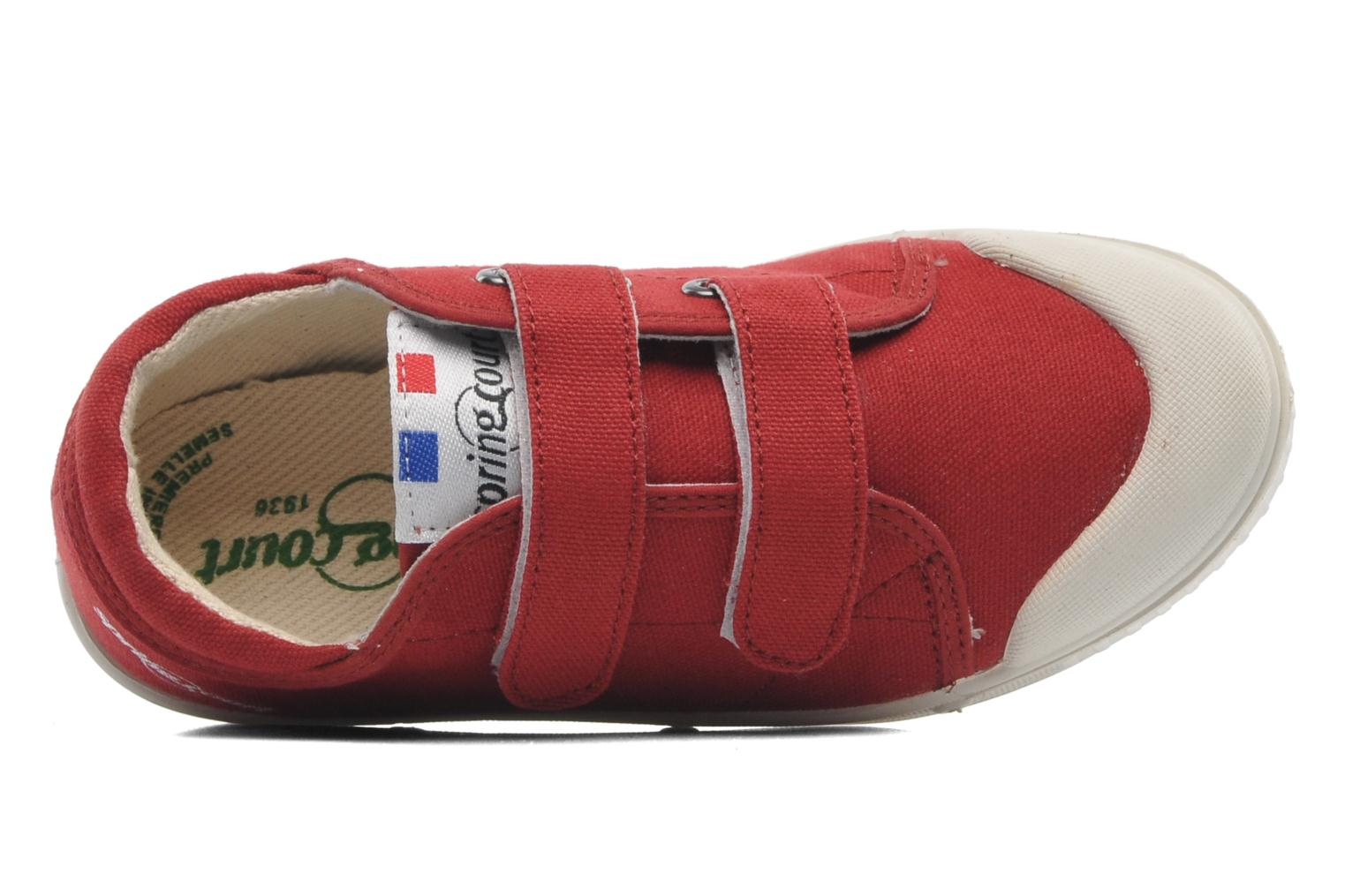 Sneakers Spring Court GE1 CVS VELCRO Rosso immagine sinistra
