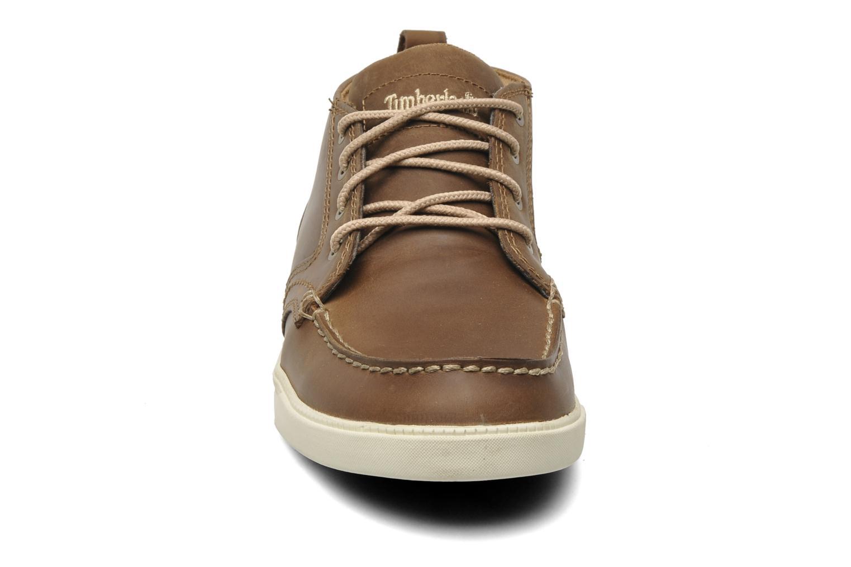 Sneaker Timberland Earthkeepers Fulk LP Chukka Moc Toe Lea braun schuhe getragen