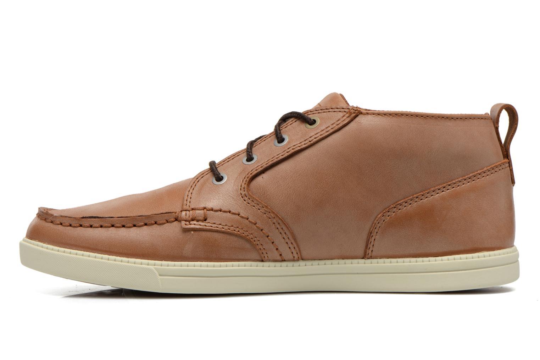 Sneakers Timberland Earthkeepers Fulk LP Chukka Moc Toe Lea Bruin voorkant