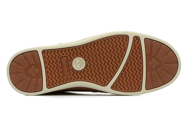Sneakers Timberland Earthkeepers Fulk LP Chukka Moc Toe Lea Bruin boven
