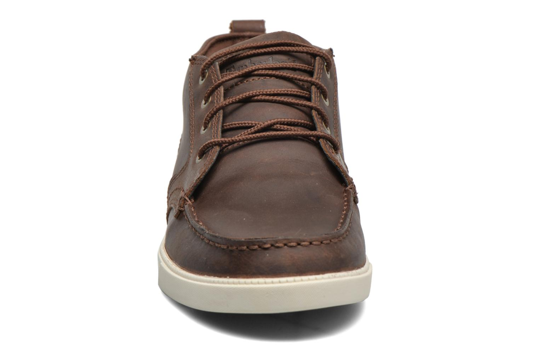 Baskets Timberland Earthkeepers Fulk LP Chukka Moc Toe Lea Marron vue portées chaussures