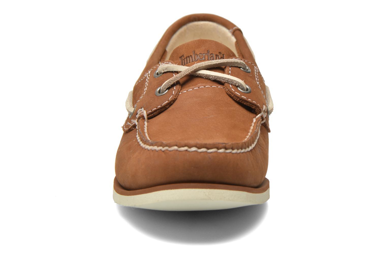 Chaussures à lacets Timberland Classic Boat Unlined Boat Shoe Marron vue portées chaussures