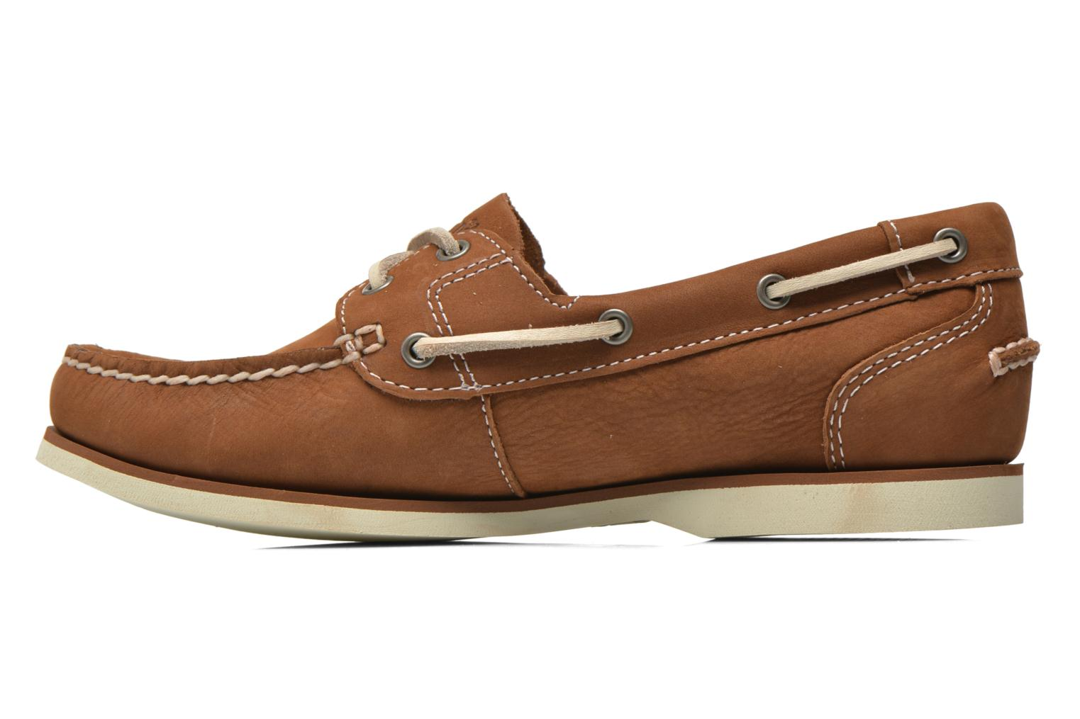 Chaussures à lacets Timberland Classic Boat Unlined Boat Shoe Marron vue face