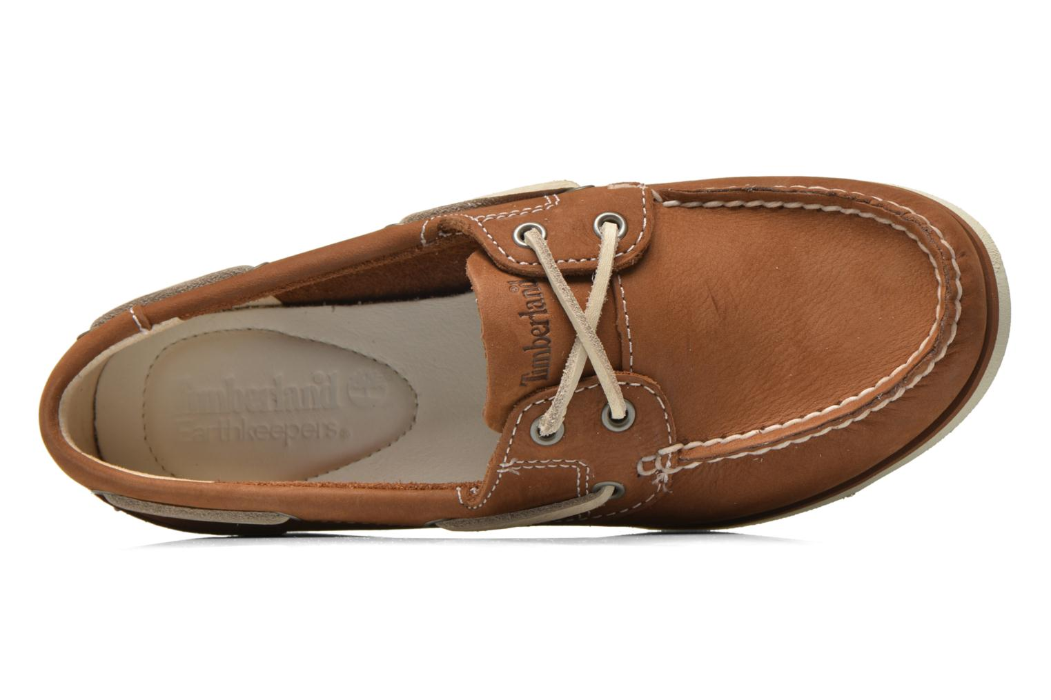Chaussures à lacets Timberland Classic Boat Unlined Boat Shoe Marron vue gauche