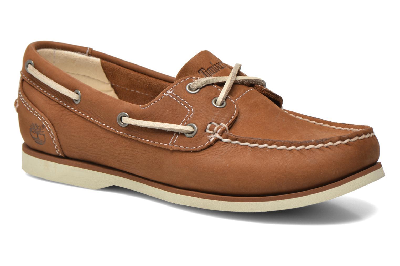 Chaussures à lacets Timberland Classic Boat Unlined Boat Shoe Marron vue détail/paire