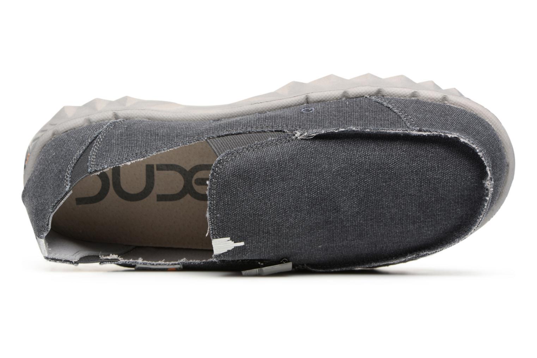 Slipper DUDE Farty Classic grau ansicht von links