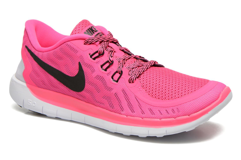 Baskets Nike NIKE FREE 5.0 (GS) Rose vue détail/paire