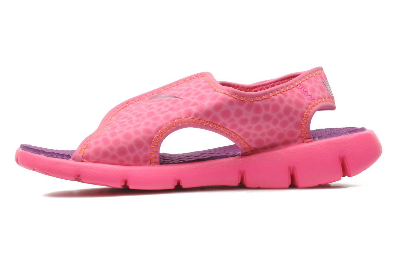 Sandali e scarpe aperte Nike SUNRAY ADJUST 4 (GSPS) Rosa immagine frontale
