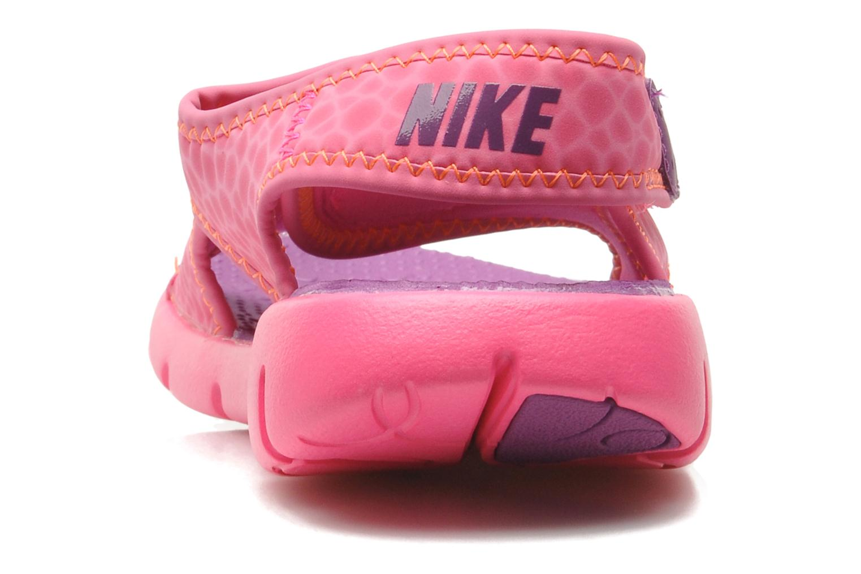 Sandali e scarpe aperte Nike SUNRAY ADJUST 4 (GSPS) Rosa immagine destra