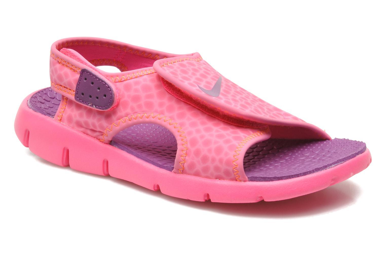 Sandaler Nike SUNRAY ADJUST 4 (GSPS) Rosa detaljerad bild på paret
