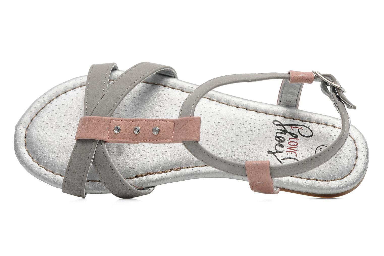 Sandales et nu-pieds I Love Shoes Itao Gris vue gauche
