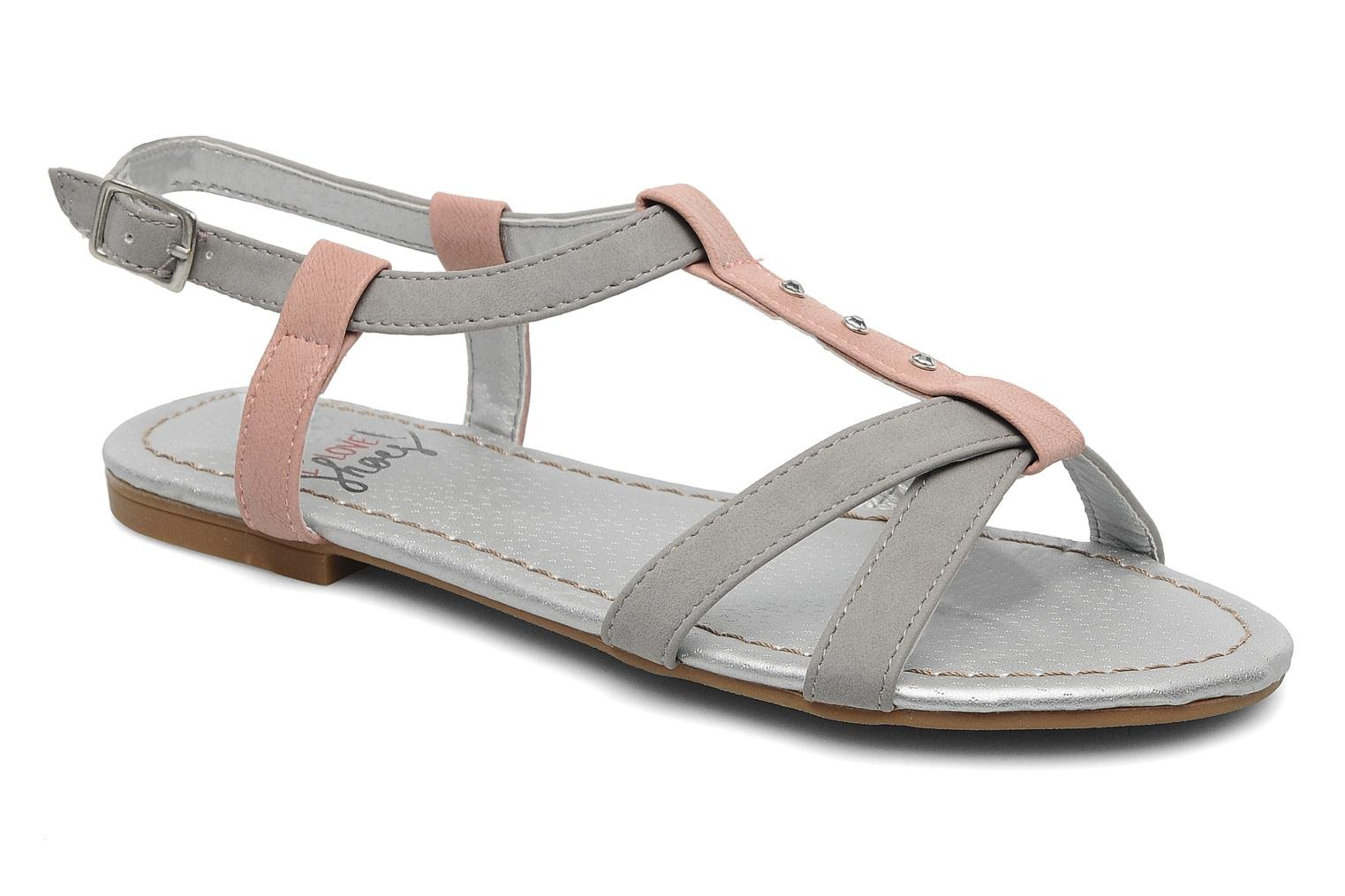 Sandals I Love Shoes Itao Grey detailed view/ Pair view