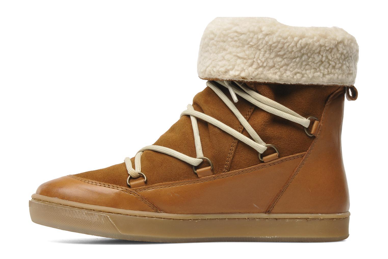 Bottines et boots Le temps des cerises Mountain Marron vue face