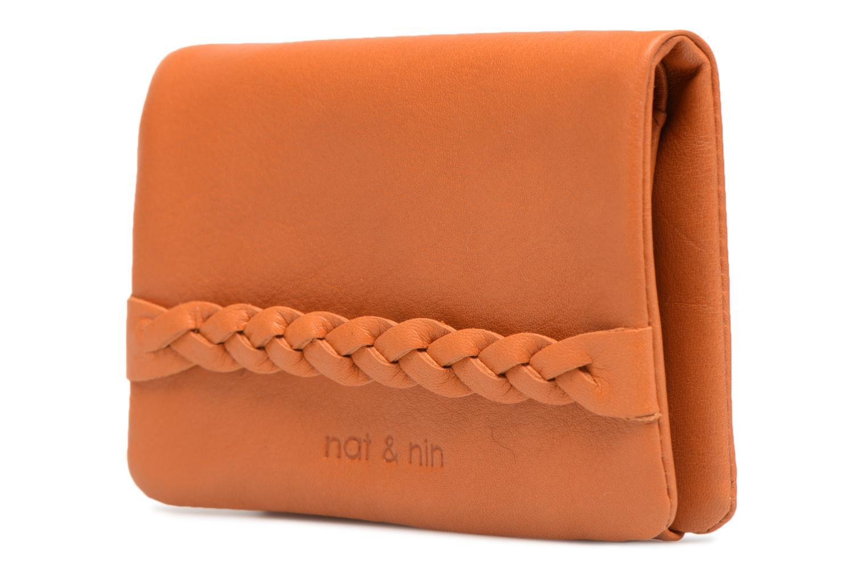 Kleine lederwaren Nat & Nin Lilou Bruin model