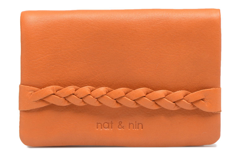 Kleine lederwaren Nat & Nin Lilou Bruin detail