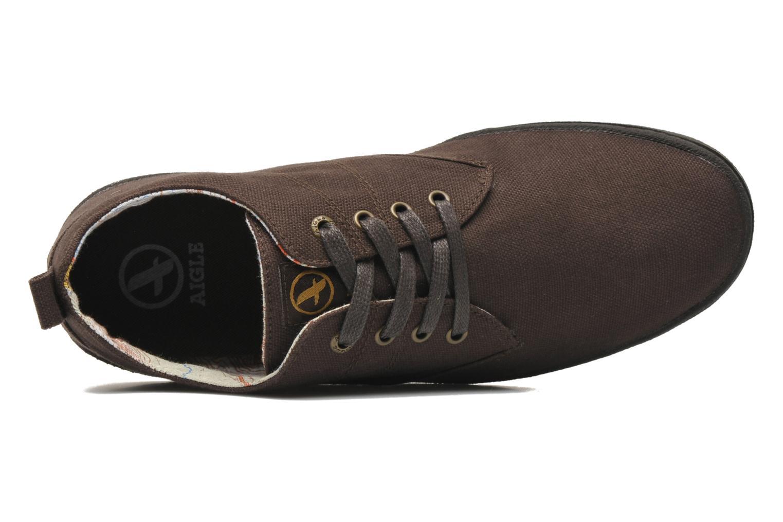 Sneaker Aigle Walden CVS braun ansicht von links