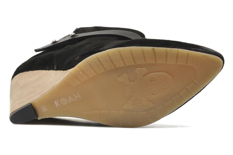 Bottines et boots Koah Liddy Noir vue haut