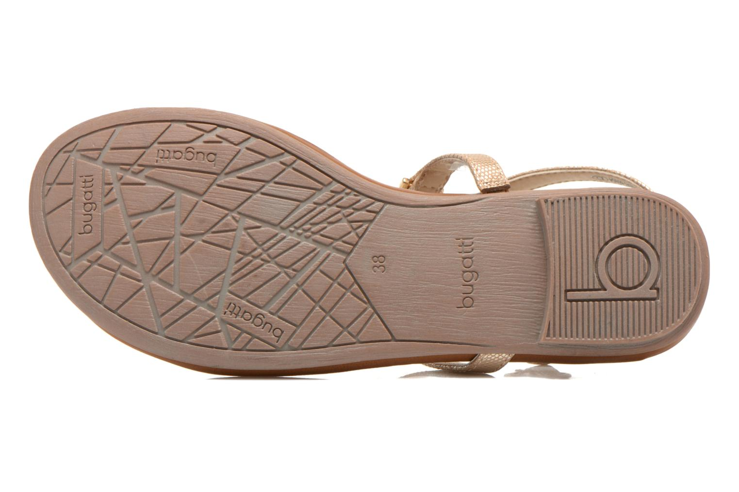 Sandals Bugatti Jasmin W5970 Bronze and Gold view from above