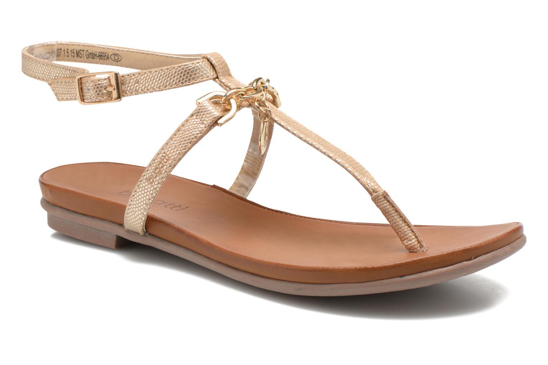 Sandales et nu-pieds Bugatti Jasmin W5970 Or et bronze vue détail/paire
