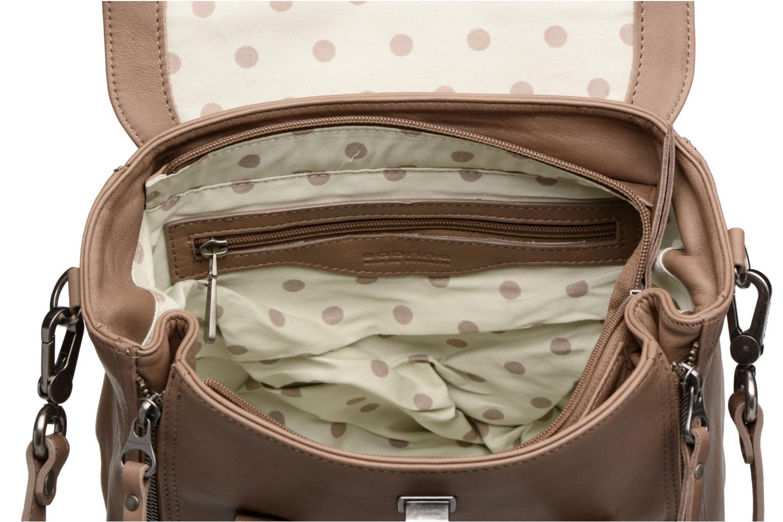 Handtassen Sabrina Charline Bruin achterkant