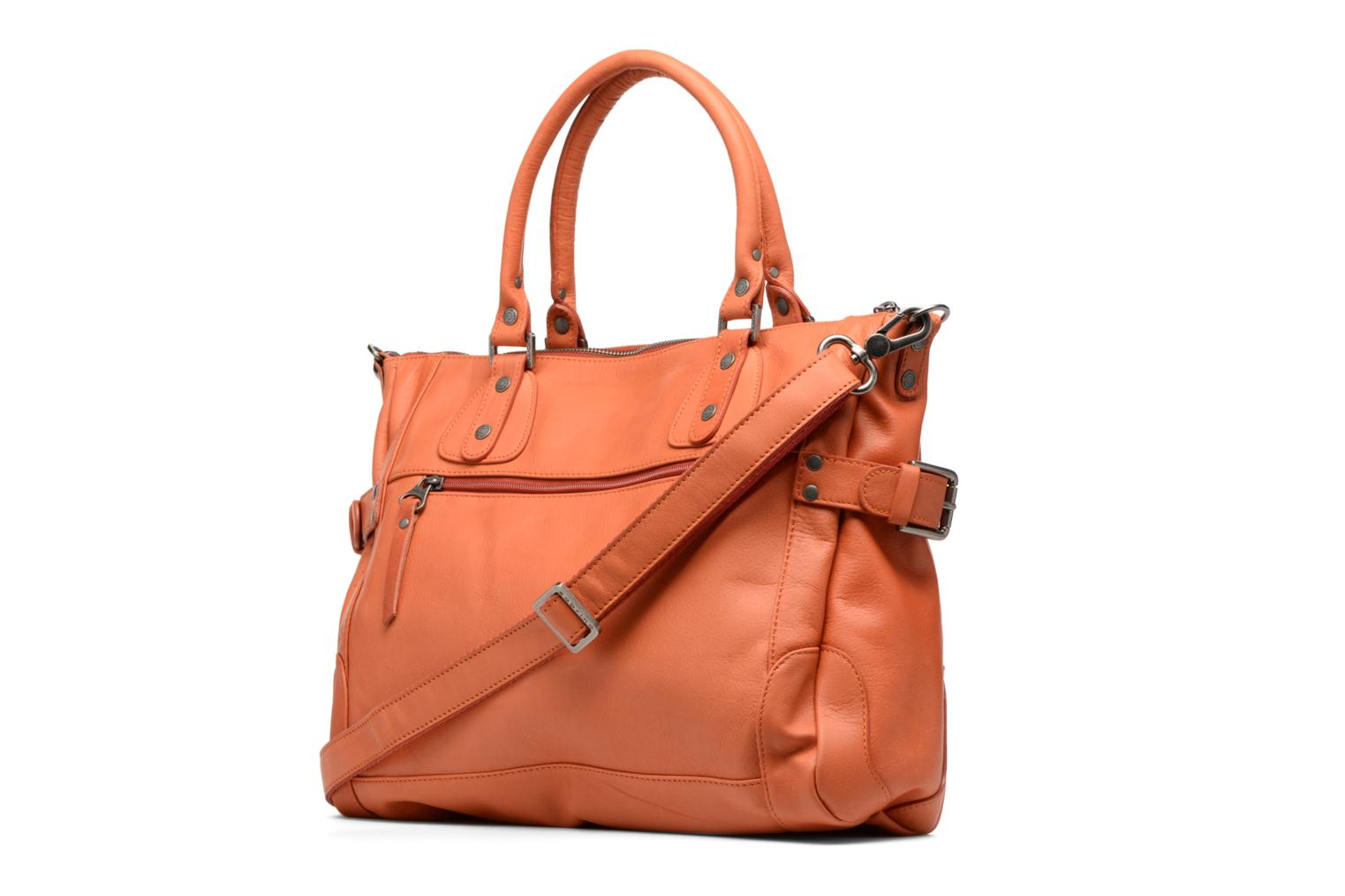 Handbags Sabrina Camille Orange view from the right