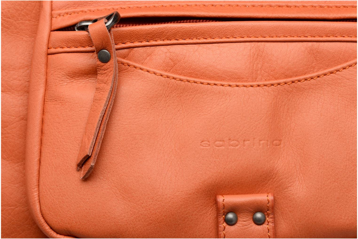 Handbags Sabrina Camille Orange view from the left