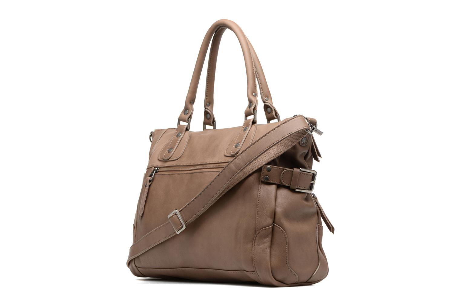 Handbags Sabrina Camille Beige view from the right