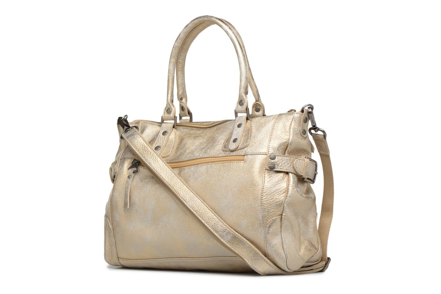 Handbags Sabrina Camille Bronze and Gold view from the right