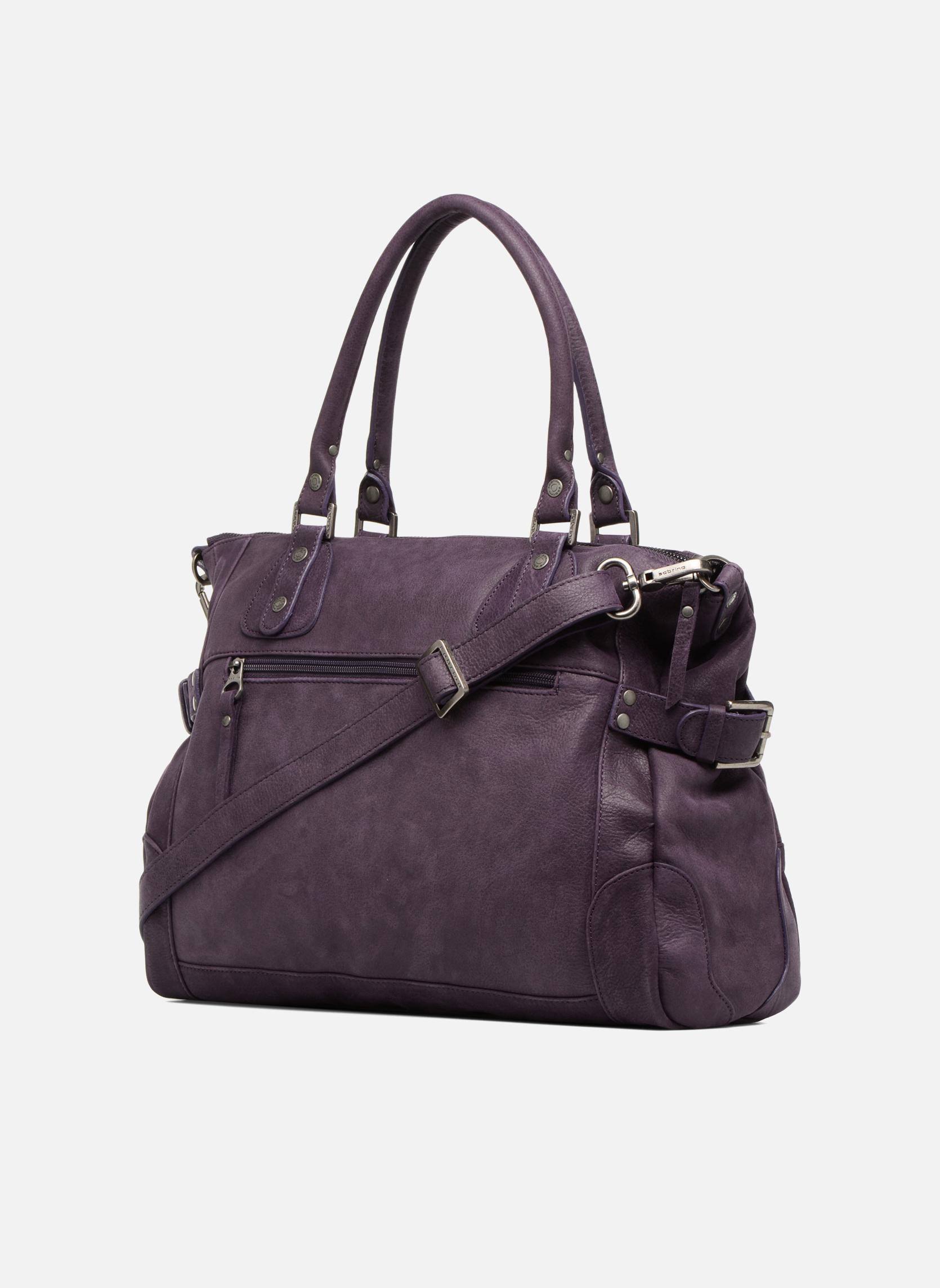 Handtaschen Sabrina Camille weinrot ansicht von rechts