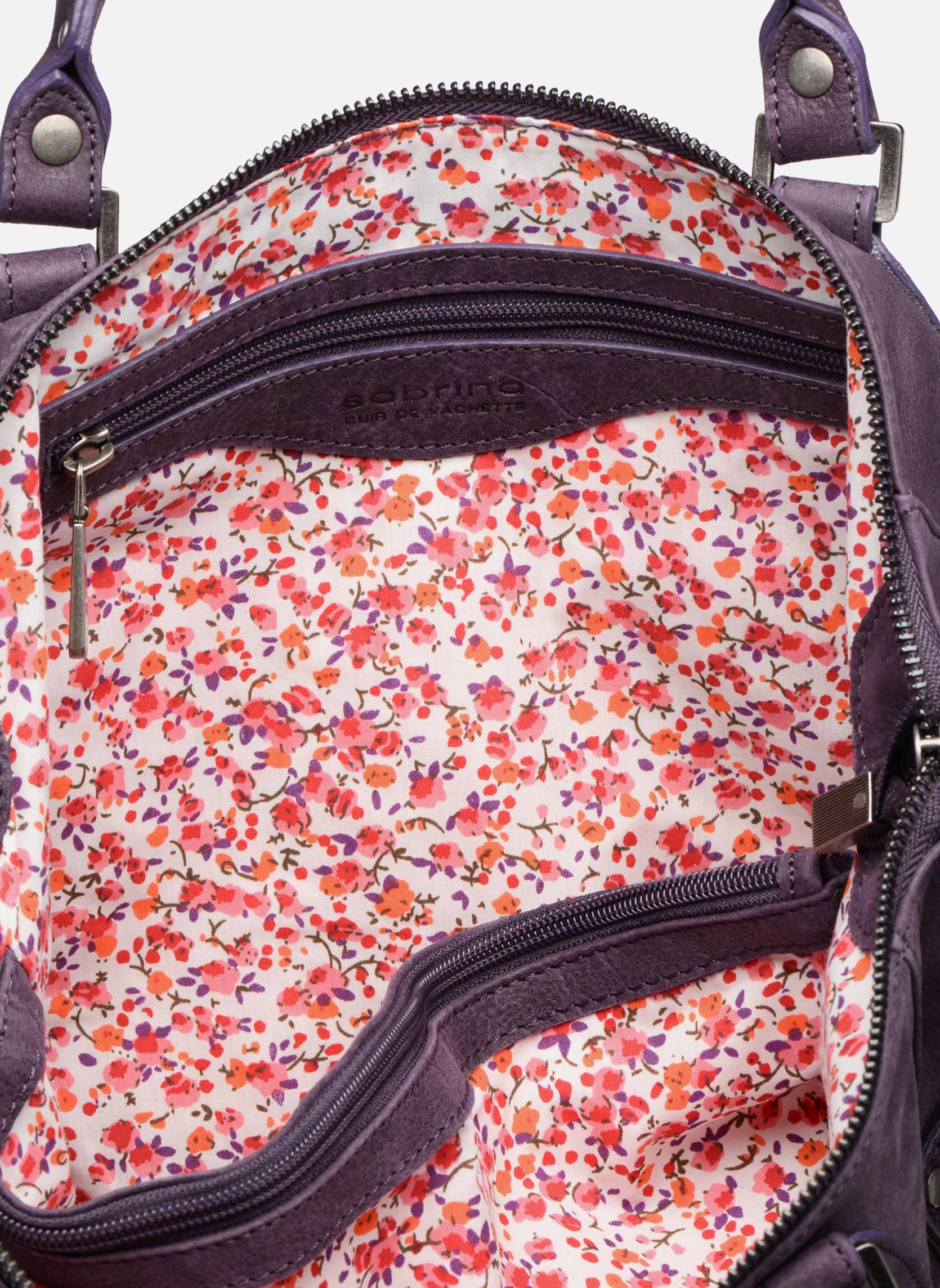 Handtaschen Sabrina Camille weinrot ansicht von hinten