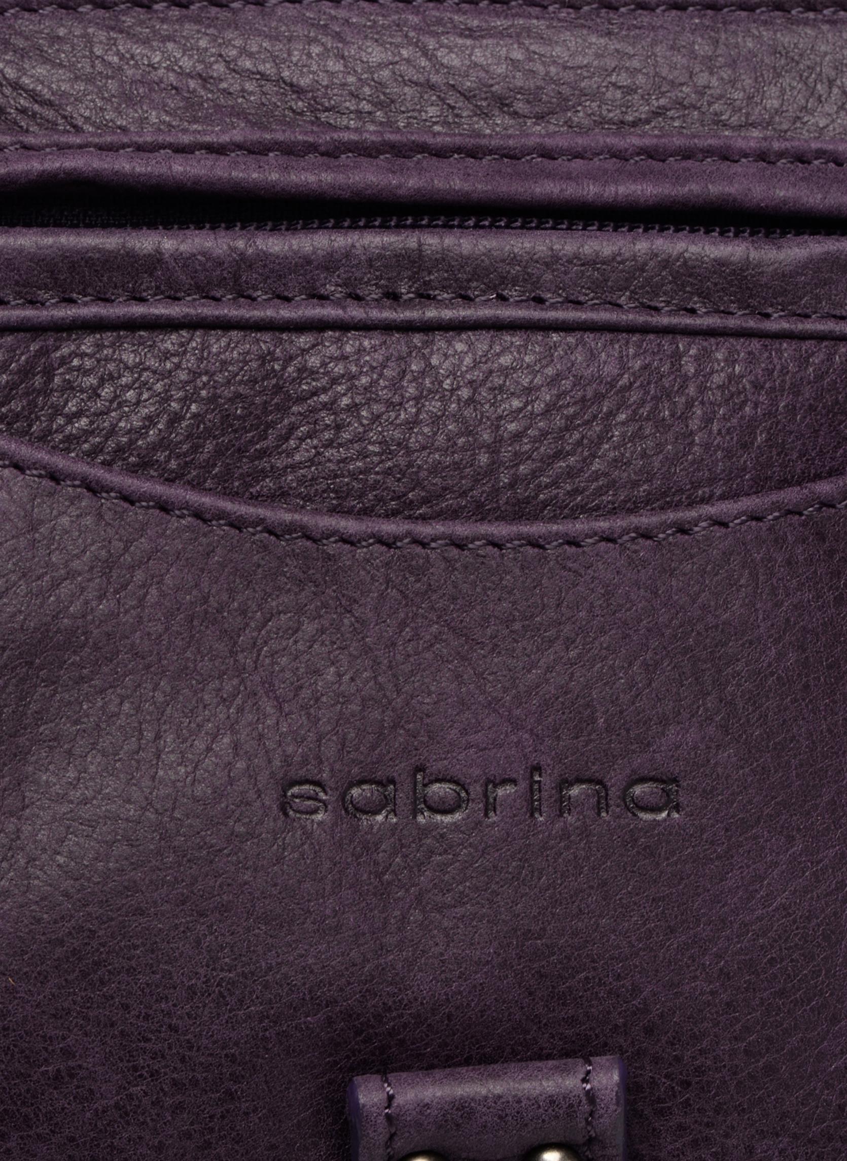 Handtaschen Sabrina Camille weinrot ansicht von links