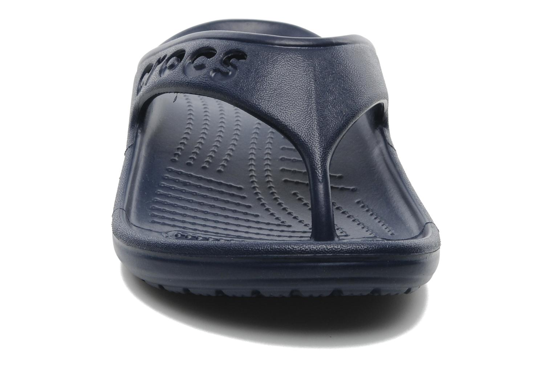 Tongs Crocs Baya Flip Bleu vue portées chaussures