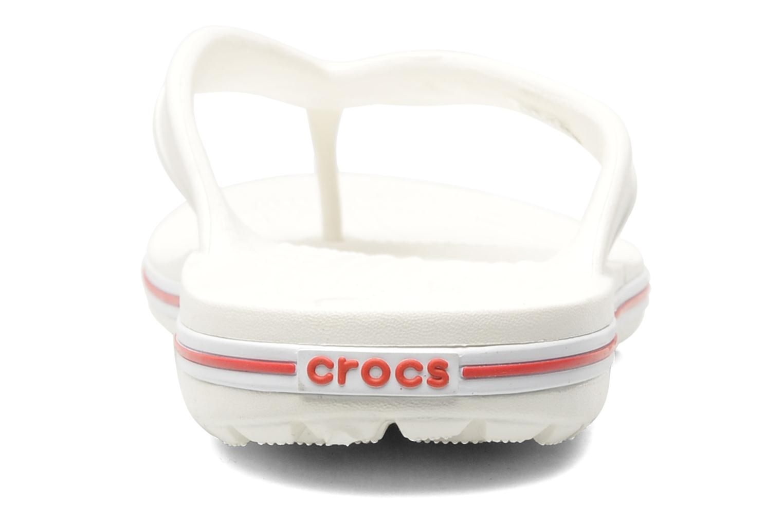 Zehensandalen Crocs Crocband Flip Low Profile weiß ansicht von rechts
