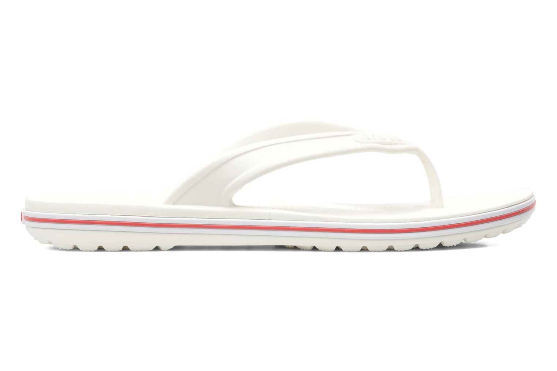 Zehensandalen Crocs Crocband Flip Low Profile weiß ansicht von hinten