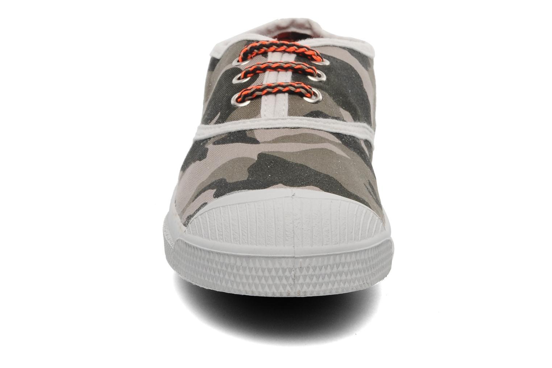 Baskets Bensimon Tennis Camofluo E Vert vue portées chaussures