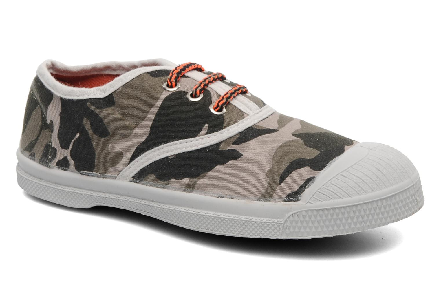 Trainers Bensimon Tennis Camofluo E Green detailed view/ Pair view