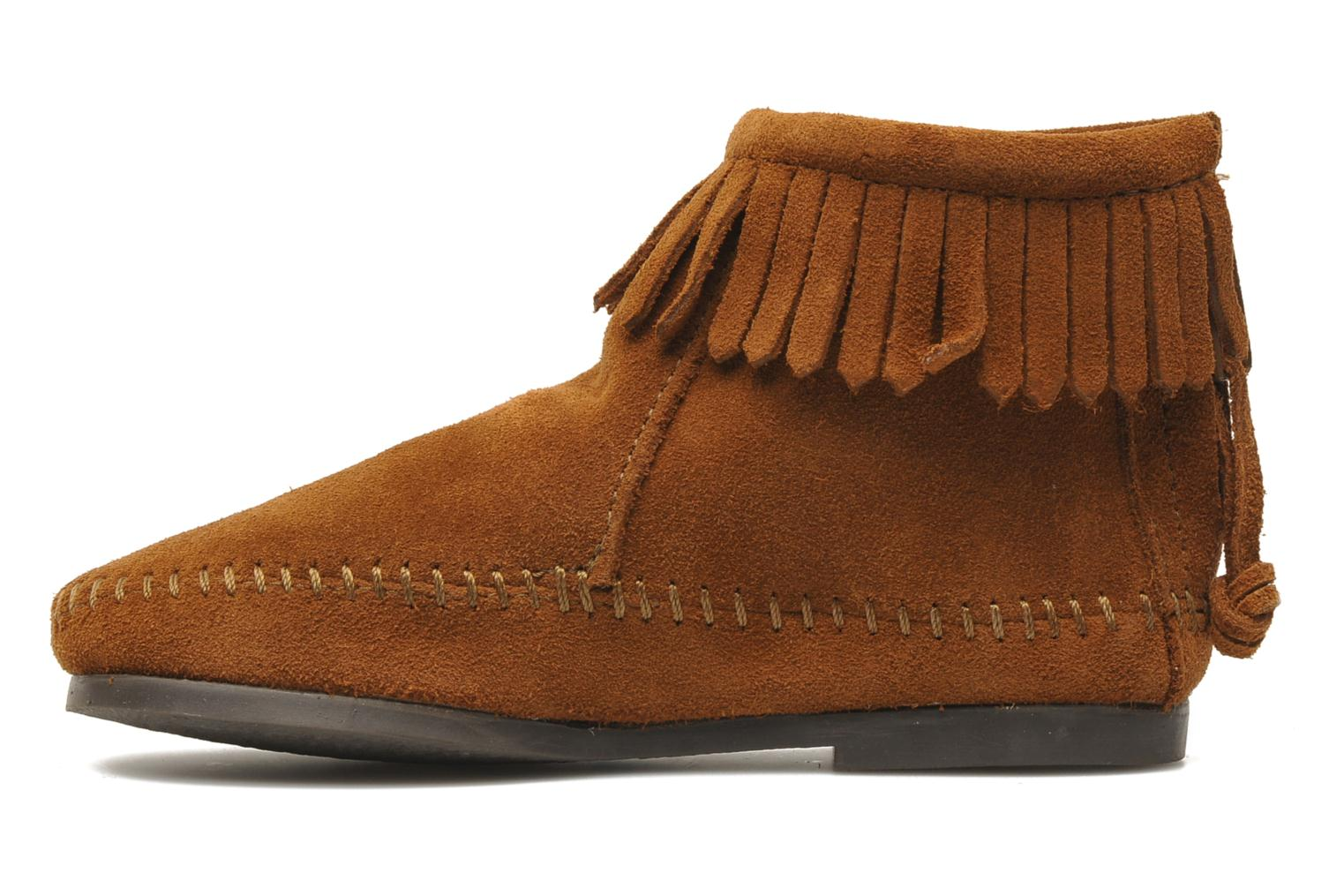 Ankle boots Minnetonka Back Zip bootie G Brown front view