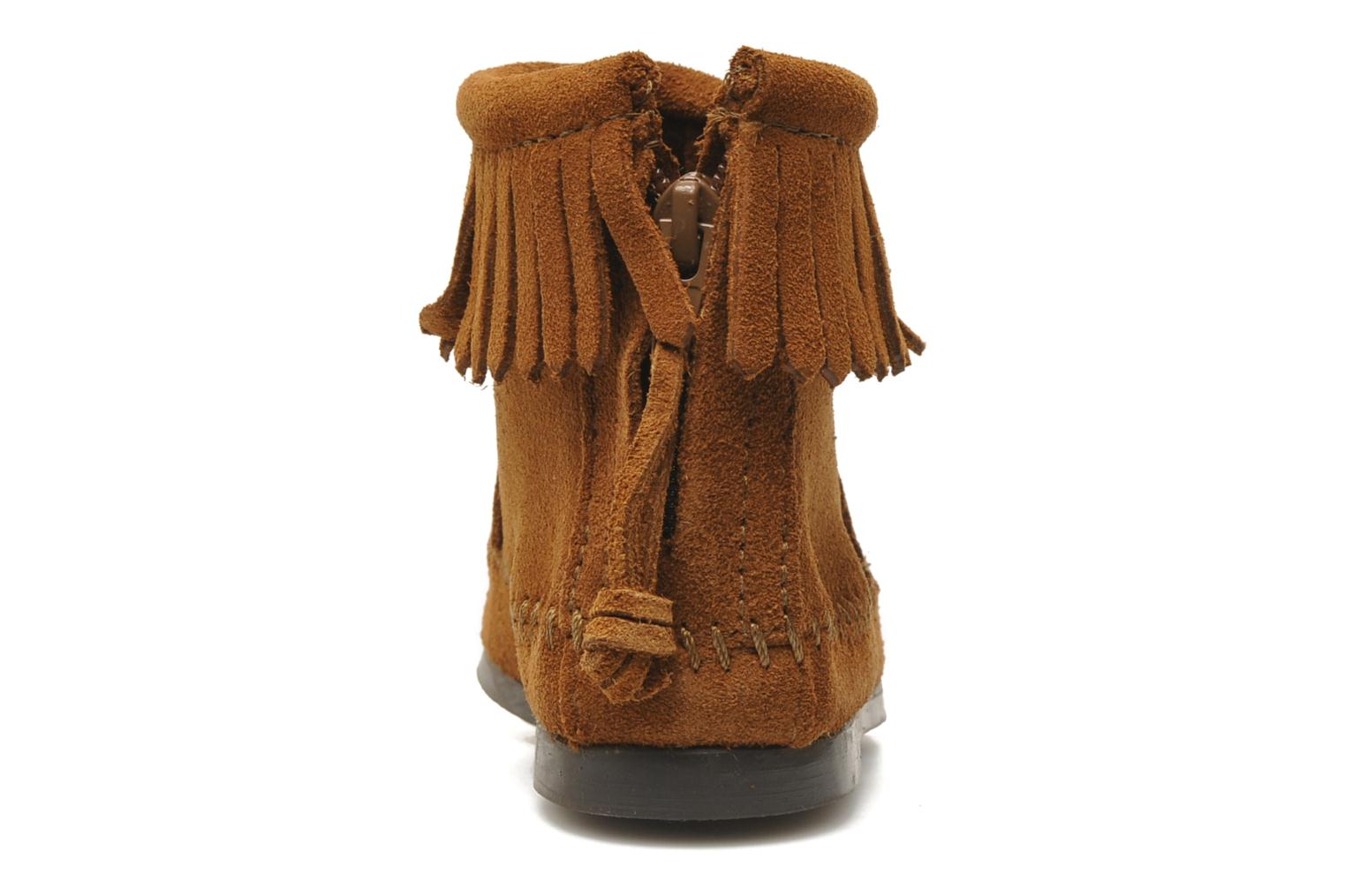 Ankle boots Minnetonka Back Zip bootie G Brown view from the right