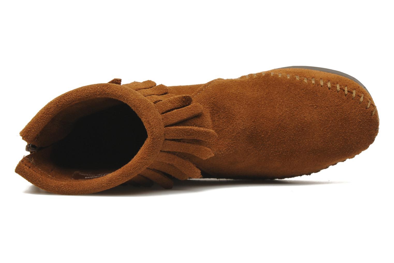 Bottines et boots Minnetonka Back Zip bootie G Marron vue gauche