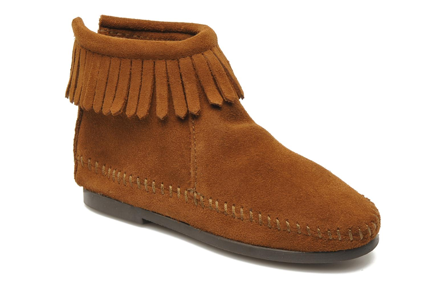 Ankle boots Minnetonka Back Zip bootie G Brown detailed view/ Pair view