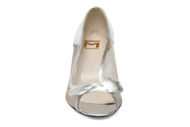 Zapatos de tacón Fred Marzo Maguy Plateado vista del modelo