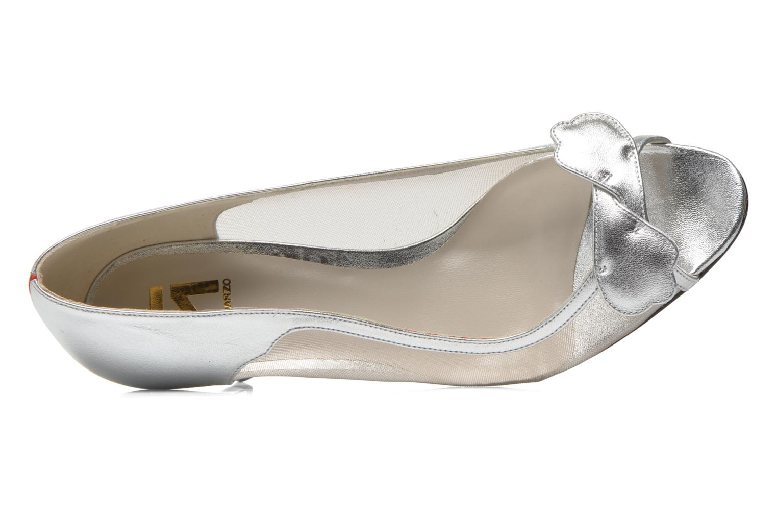 High heels Fred Marzo Maguy Silver view from the left
