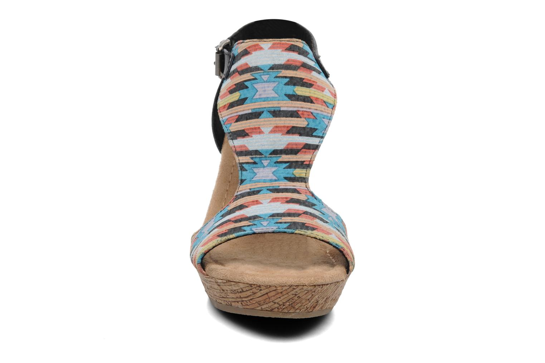 Sandalen Minnetonka Duffy mehrfarbig schuhe getragen