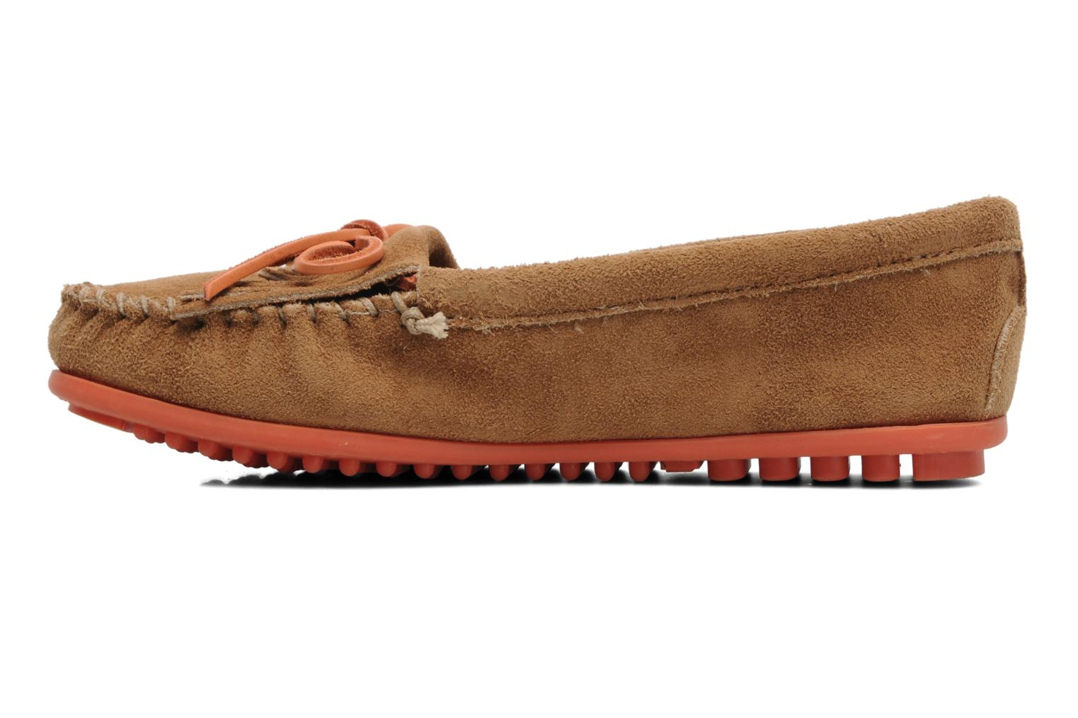 Loafers Minnetonka Kilty Suede Moc/Col Sole Beige front view