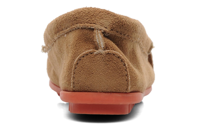 Loafers Minnetonka Kilty Suede Moc/Col Sole Beige Bild från höger sidan
