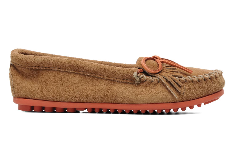 Loafers Minnetonka Kilty Suede Moc/Col Sole Beige bild från baksidan