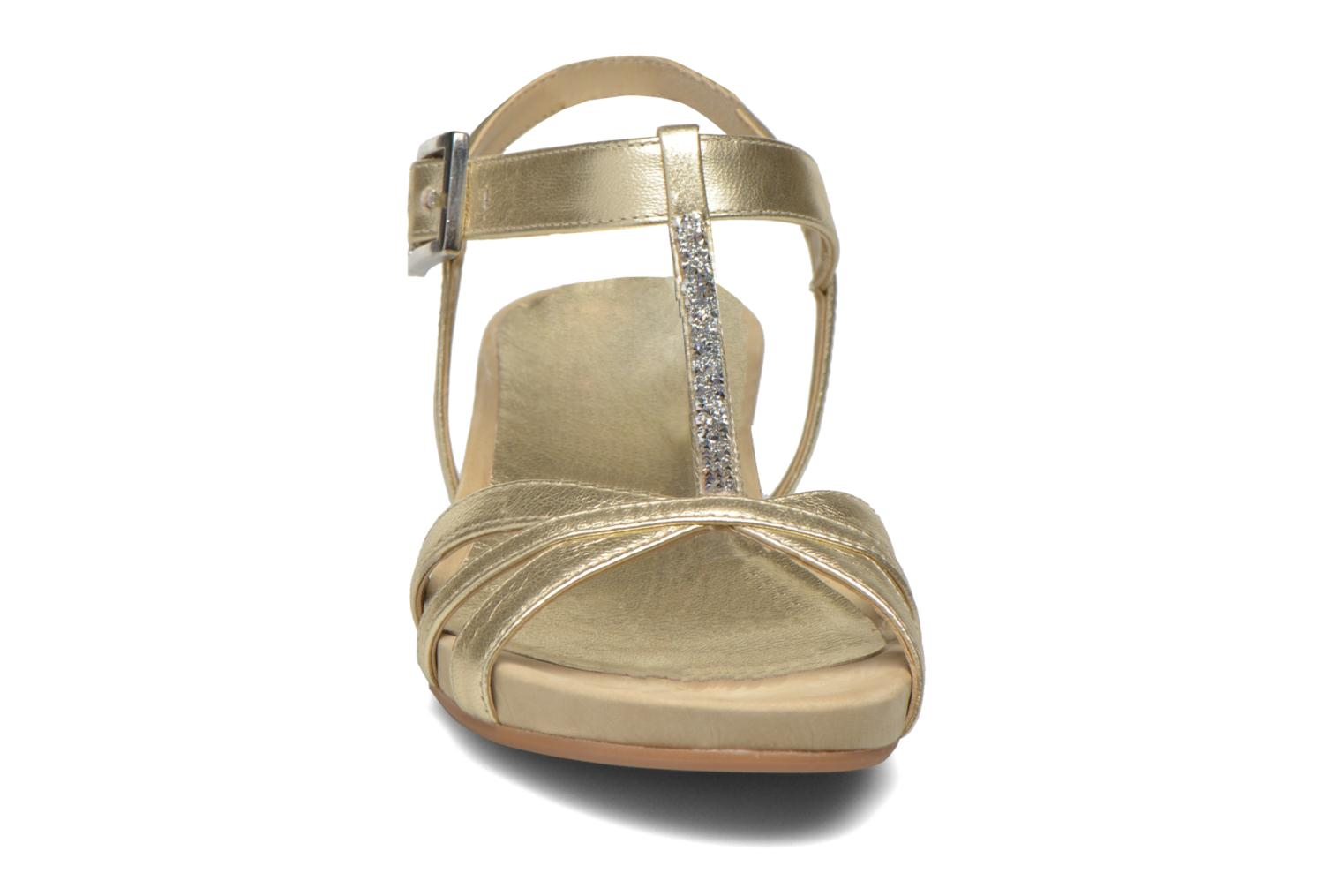 Sandals Unisa Boili Bronze and Gold model view
